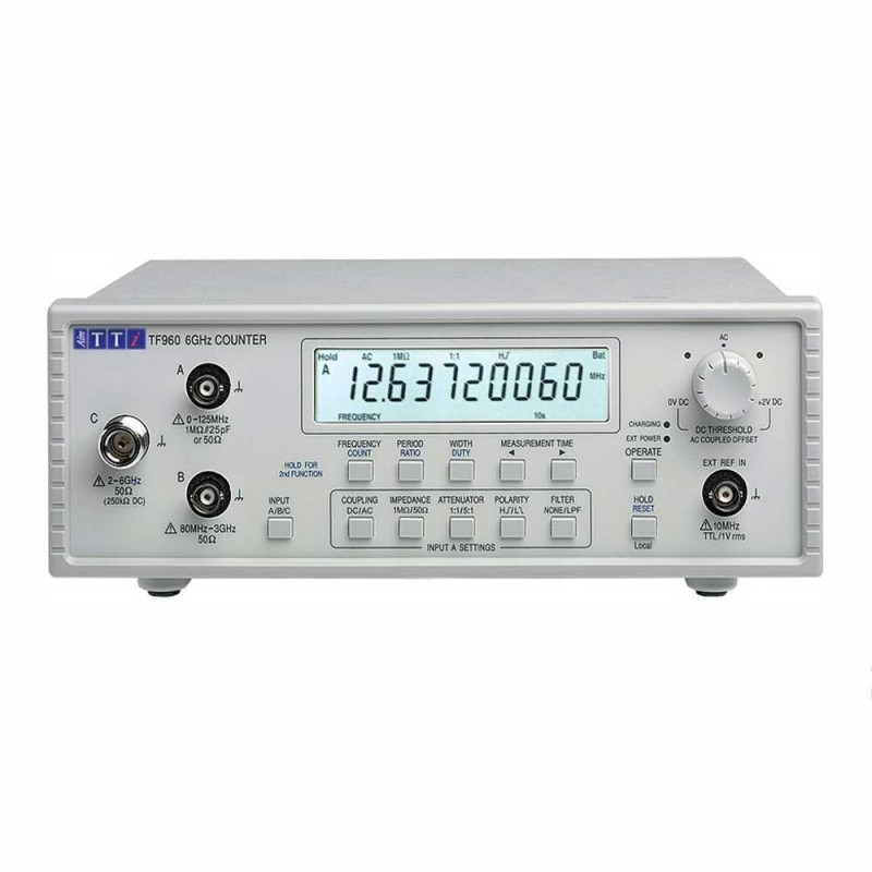Thurlby Thandar TF960 6GHz Universal Frequency Counter