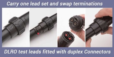 New lead sets now supplied with the Megger DLRO10, 10X and BT51