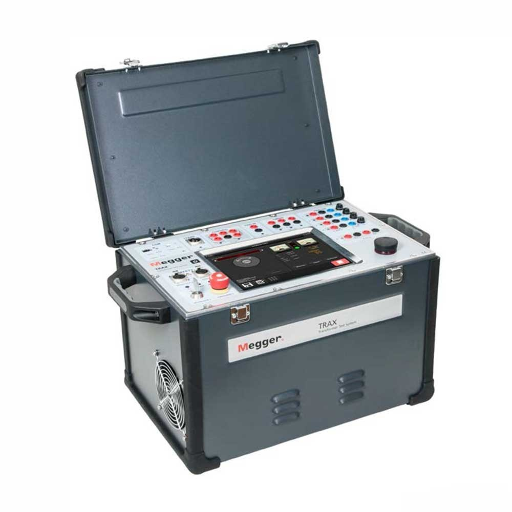 Megger Trax 219 Transformer And Substation Test System Check For Continuity On The Start Windings Between Black
