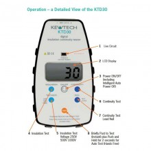 Kewtech KTD30 Digital Insulation and Continuity Tester