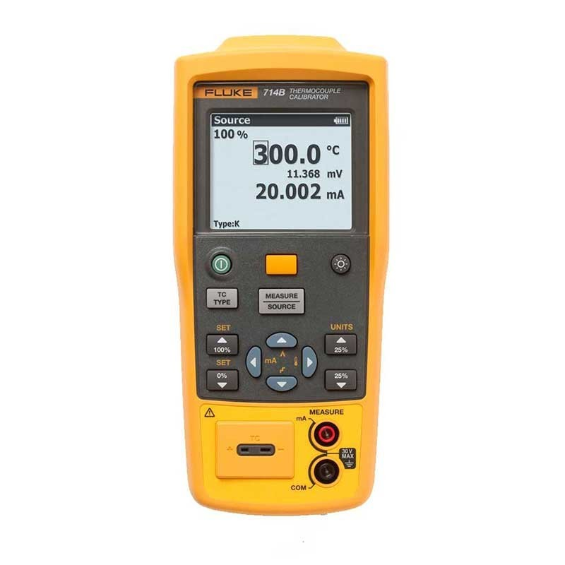 Fluke 714B Thermocouple Calibrator   Fluke 4387869 TC Temp Calibrator