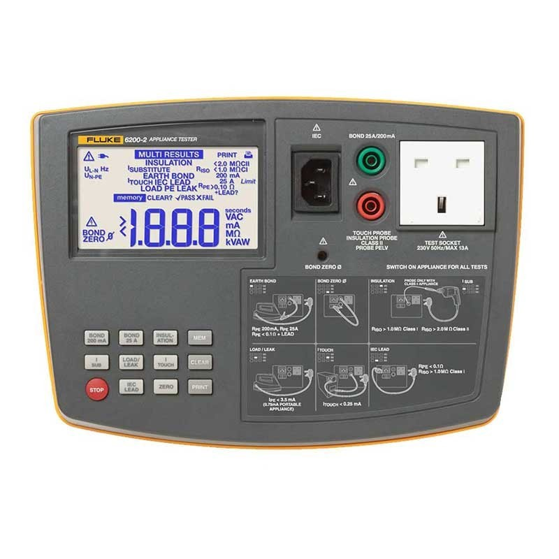 Fluke 6200 2 Portable Appliance Tester Kit Fluke 6200