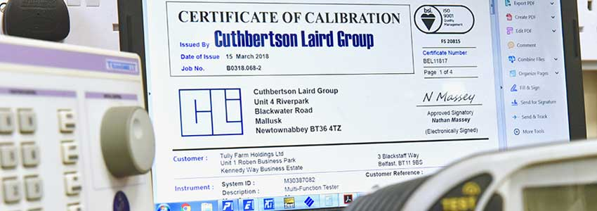 test instrument calibration