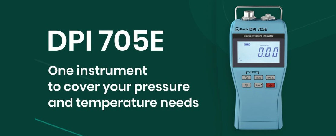 Druck DPI705E - One instrument to cover your pressure and temperature needs.