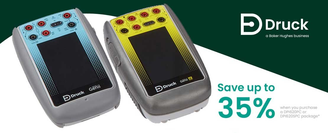 Save Up To 35% on Druck DPI620PC And DPI620S PC Commercial Calibrator Packages