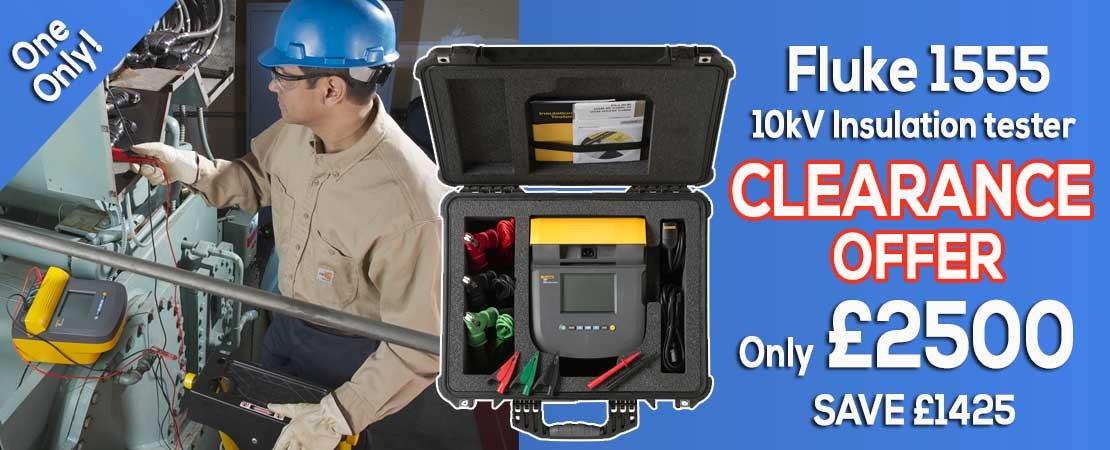 Fluke 1555 10kV Insulation Tester Clearance Sale