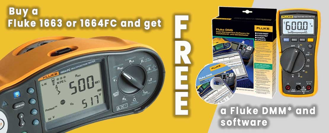 Fluke 1664 FC with a FREE 115 multimeter and data management software.
